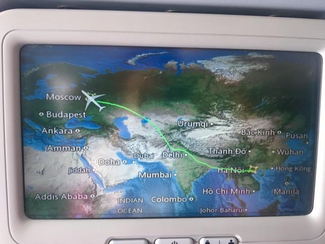 Летим в Москву