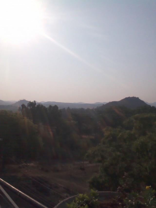 Вид на горы с места, где проходила йога