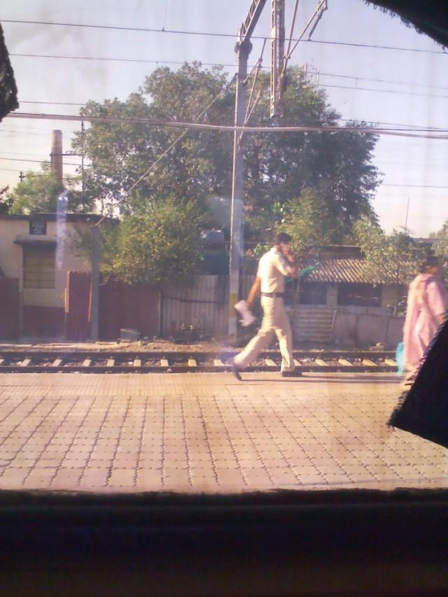 Вид из окна в поезде. Похоже на эффект инстаграма, правда?