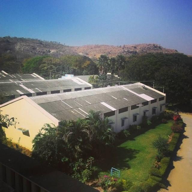 Вид из нашего окна в ашраме Саибабушек