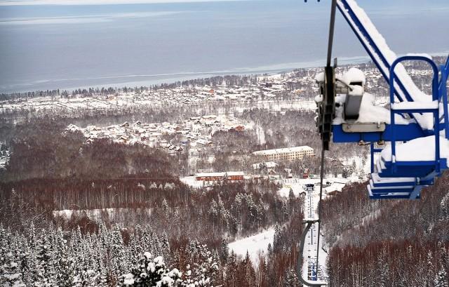Байкальск. Гора Соболиная. Лыжи.
