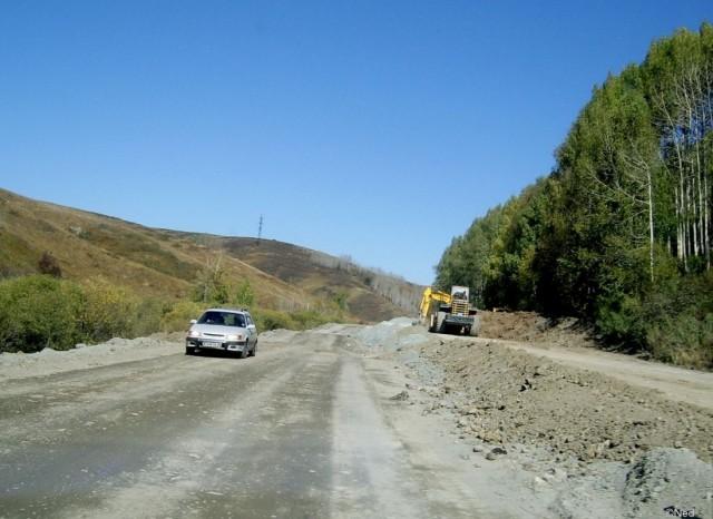 строительство новой дороги чрез перевал со стороны Ускамани