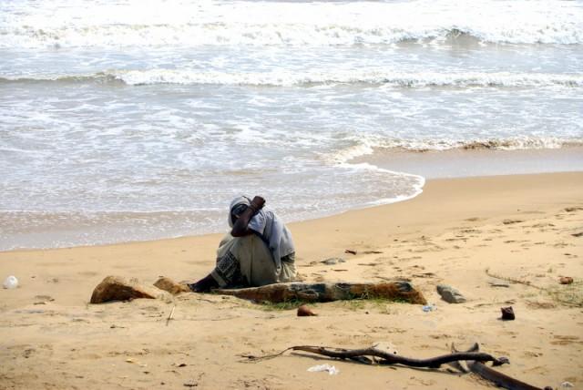 На берегу моря чувствуют себя сиротливо