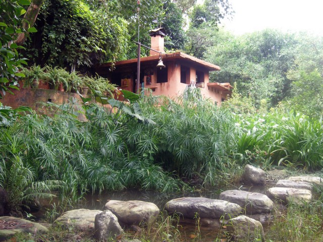 Сад построен ашрамистами