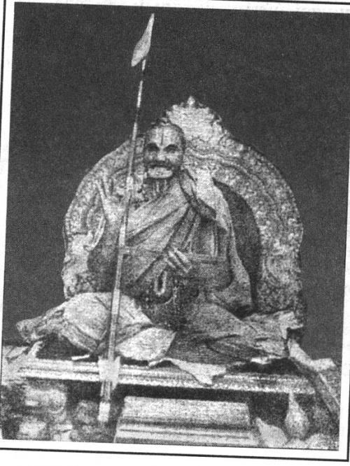 Кришнамачарья выступает с лекцией в Мадрасе.