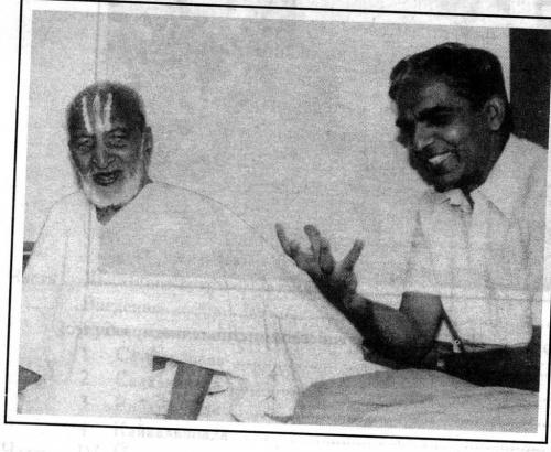 Дешикачар с отцом, которому 100 лет