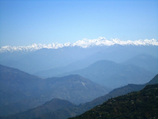 Гималаи. Вид из Калимпонга.