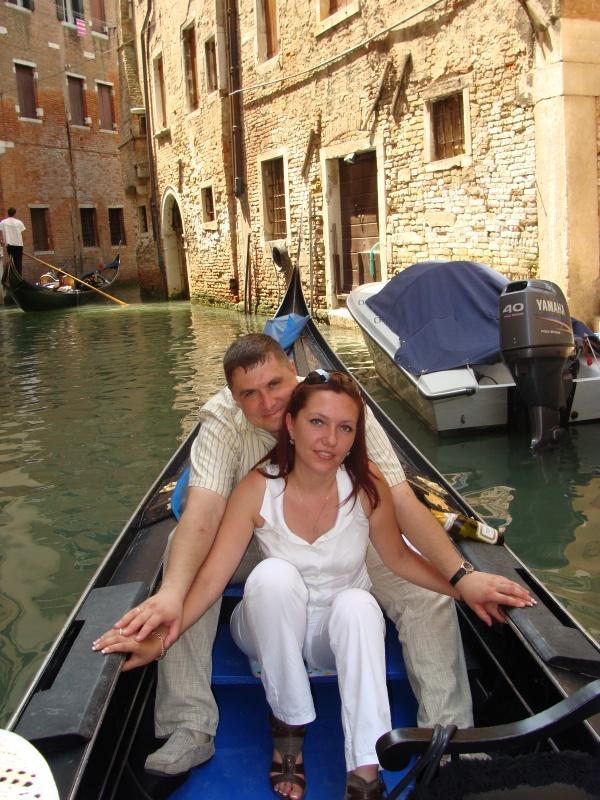 Счастливы вместе даже в Венеции )))