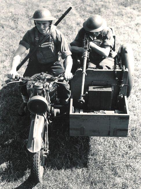 Английский противотанковый мотоцикл.1939.