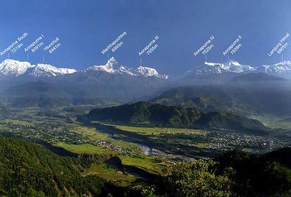 Вид на горы из Покхары