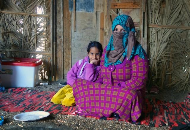 В хижине в Набке. Там бедуины жили.