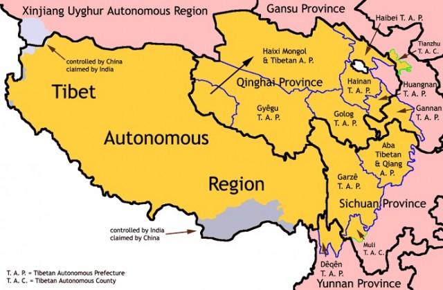 где Тибет, а где ТАР