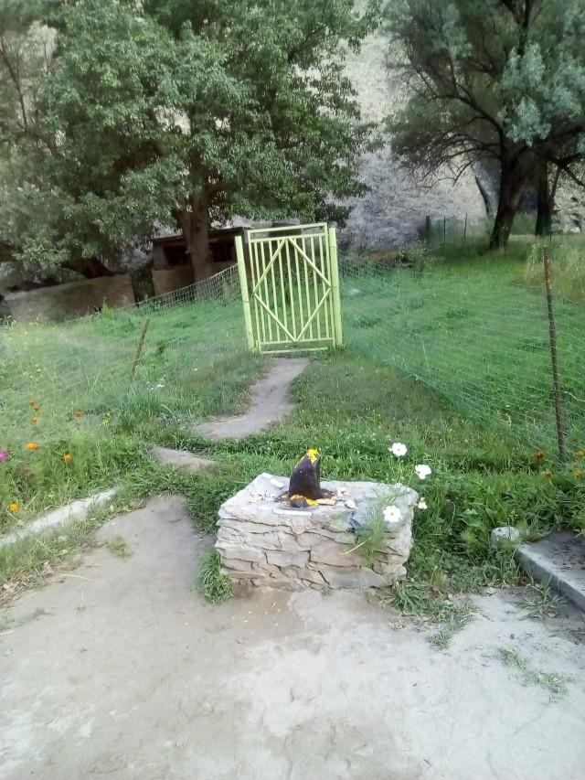 Мазар рядом с садом