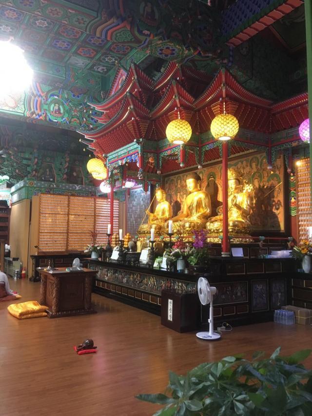 Храм Махабодхи внутри