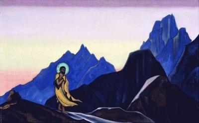 Репродукция картины РерихаН.К.: Бхагаван. 1943. Государственный музей Востока, Москва (временно)