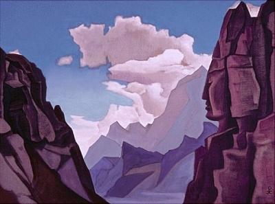 Живопись Николая Рериха: Великий дух Гималаев. 1934. Музей Н.К.Рериха, Нью-Йорк