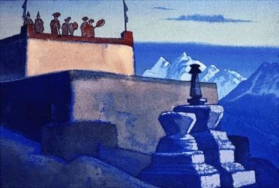 Рерих Н.К.: Вечерний зов. 1931.Государственный музей Востока, Москва