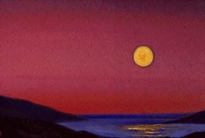 Рерих Н.К.: Гималаи. Лунный закат. 1940. Государственный музей Востока, Москва