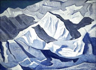 """Рерих Н.К.: Гималаи. Снежный подъем. Серия """"Гималаи"""". 1924."""