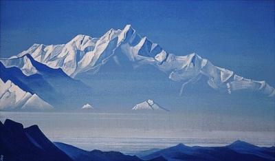 Рерих Н.К.: Гора пяти сокровищ. 1933. Музей Н.К.Рериха, Нью-Йорк