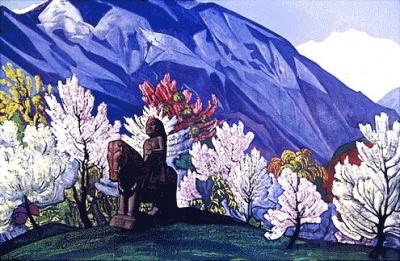 Рерих Н.К.: Гуга Чохан. Весна в Кулу. 1931. Третьяковская галерея, Москва