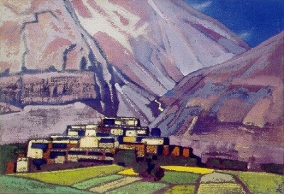 Рерих Н.К.: Деревня Карданг. Лахул. 1932. Государственный художественный музей, Рига, Латвия