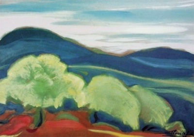 Святослав Рерих: Весна пришла. 1972. Государственный музей Востока, Москва (временно)