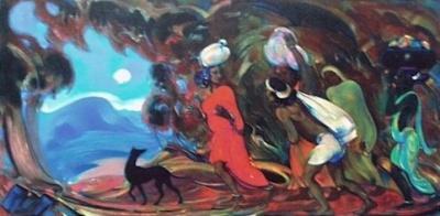 Святослав Рерих: Возвращение домой. 1954. Государственный музей Востока, Москва (временно)