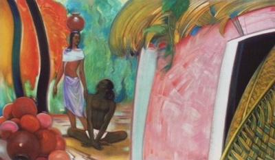Рерих Святослав: Глина приобретает форму (Дом гончара). 1964. Государственный музей Востока, Москва (временно)