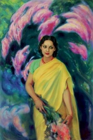 Рерих С.Н.: Девика Рани Рерих. 1946. Государственный музей Востока, Москва (временно)