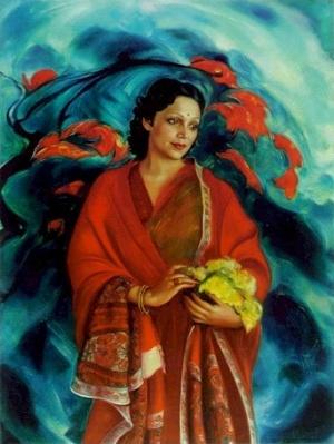 Рерих С.Н.: Девика Рани Рерих. 1951. Государственный музей Востока, Москва (временно)