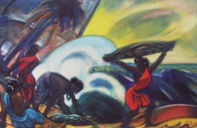 Рерих Святослав Николаевич: Дочери моря. 1946. Государственный музей Востока, Москва (временно)