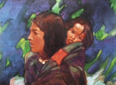 Святослав Николаевич Рерих: Женщина из Спити. 1938. Карнатака Читракала Паришатх, Бангалор, Индия