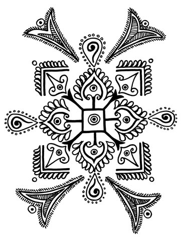 Folk Designs from West India. узоры,орнаменты. indianfolkdesigns.blogspot.com/search