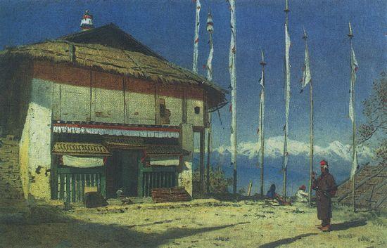 Буддийский храм а Дарджилинге. Сикким. 1874-1876