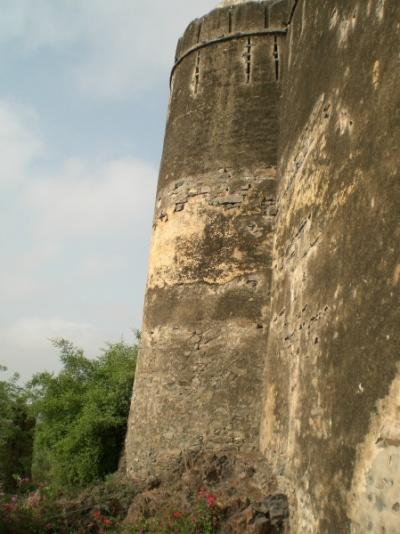 вид с подножия форта