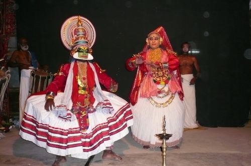 Катхакали - герой и девушка