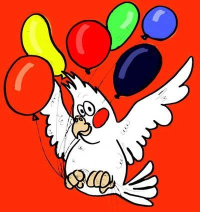 Картинки с днем рождения с попугаем, приколом поздравлением