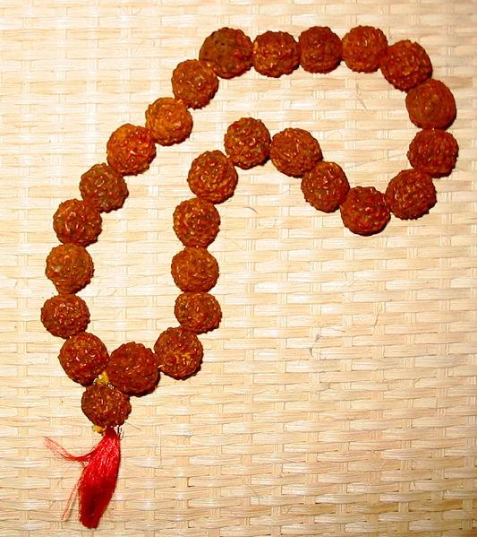 Чётки из плодов рудракши.