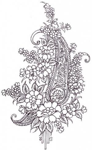 """Наткнулась на роскошную коллекцию текстильного принта пейсли или как в народе говорят """"индийский огурец """" ."""