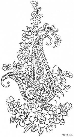 """Пейсли 1. Часть 2 - Пейсли 2. Шаблоны индийского орнамента  """"Пейсли """" - индийского огурца."""