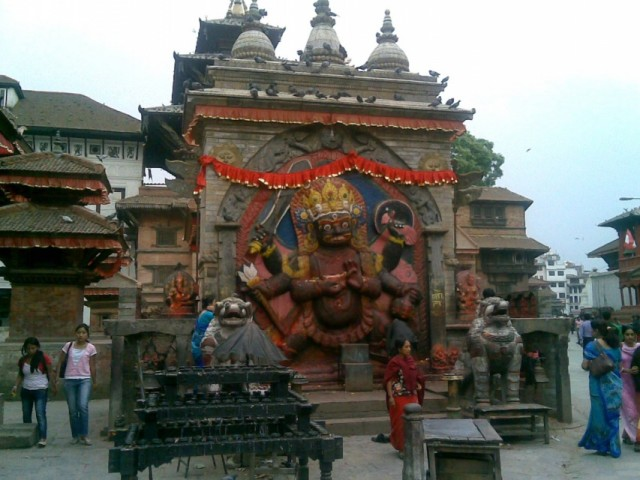 Индусский храм на Дарбаре