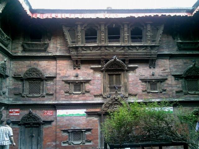 Внутренний двор Кумари Гхар (Дома Богини)
