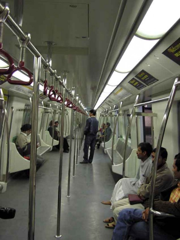В вагоде метро