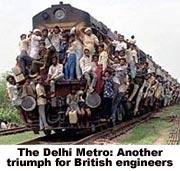 Так представляли себе делийское метро злопыхатели :-)
