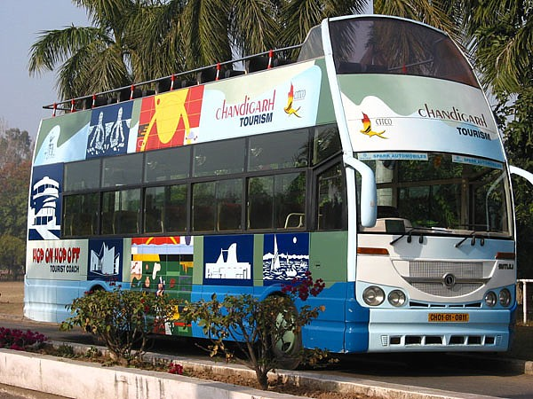 Автобус на обзорной экскурсии