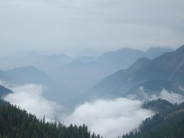 туман на перевале Jalori