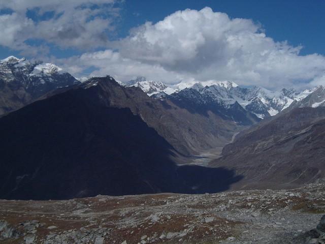 Вид с перевала Рохтанг