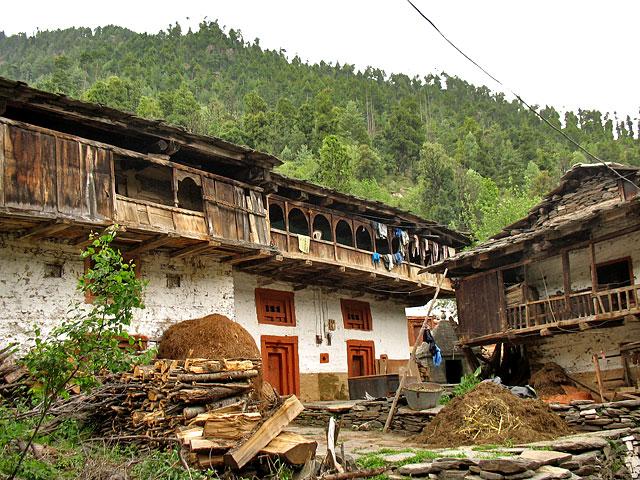 Традиционные дома в Олд Манали