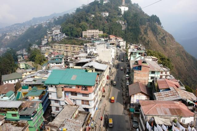 Гангток: вид с канатной дороги